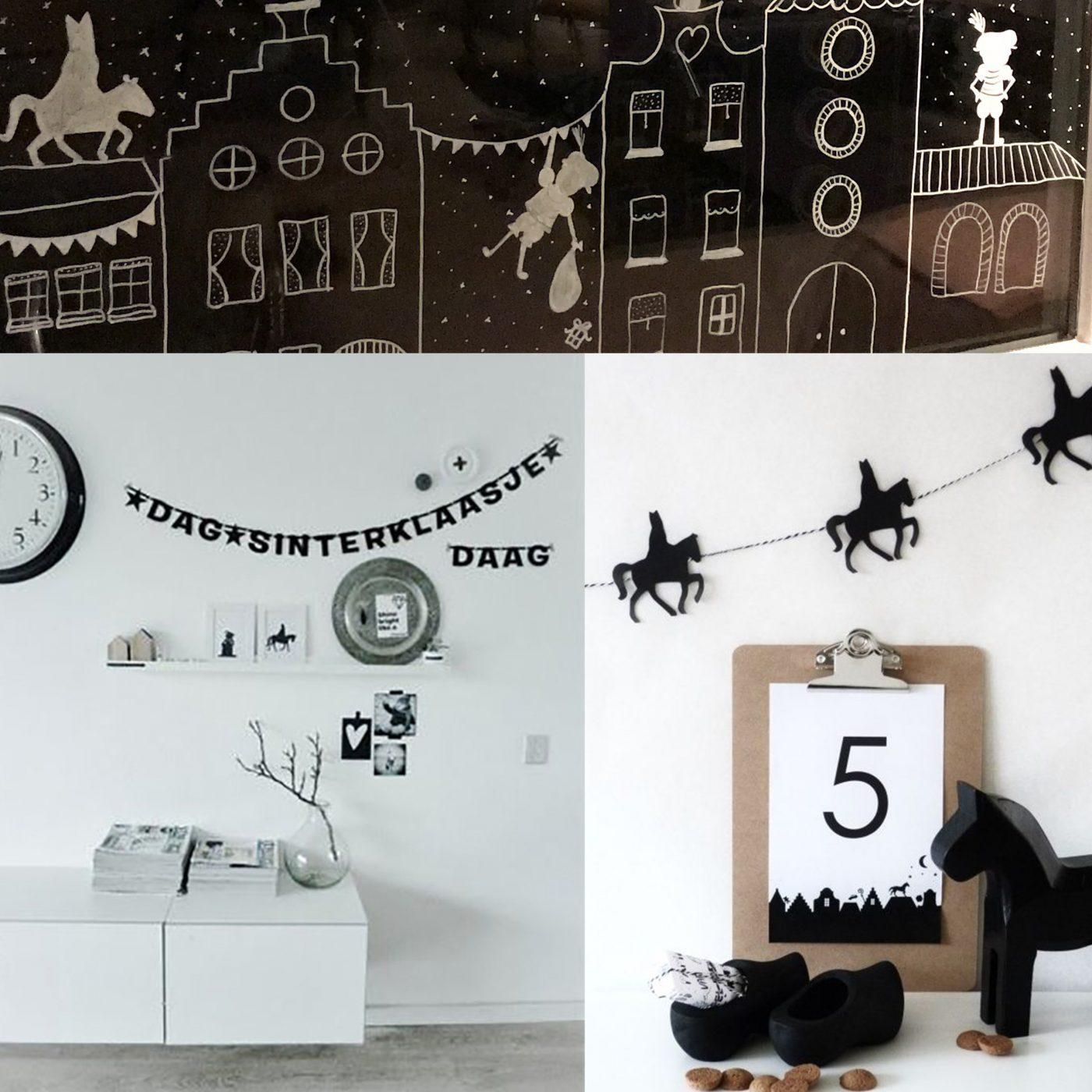 Super Sinterklaas raam decoratie | Kinderkamervintage &EC55