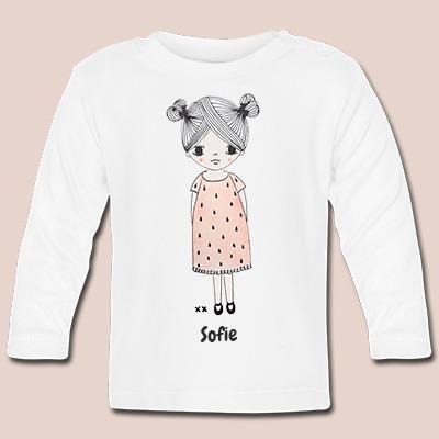 baby t-shirt lange mouwen bedrukken kraamcadeau