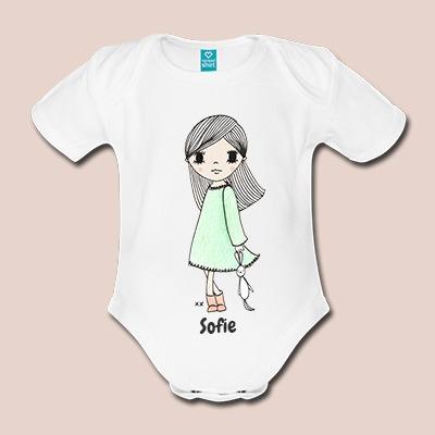 Bio rompers korte mouw - origineel babycadeau