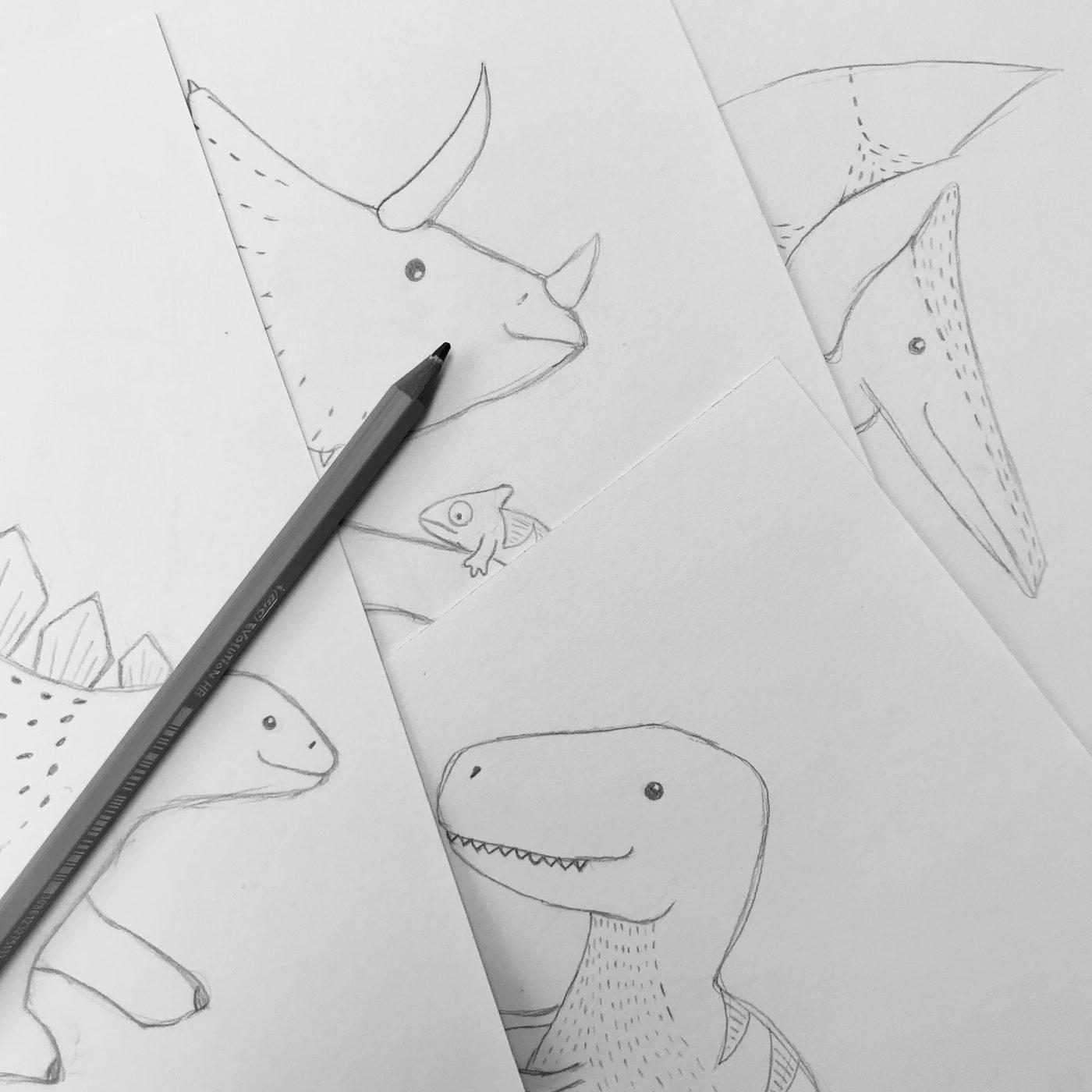dinosaurus tekeningen