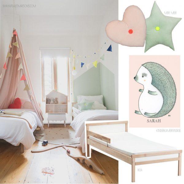 kamer voor 2 jongen en meisje kinderkamervintage