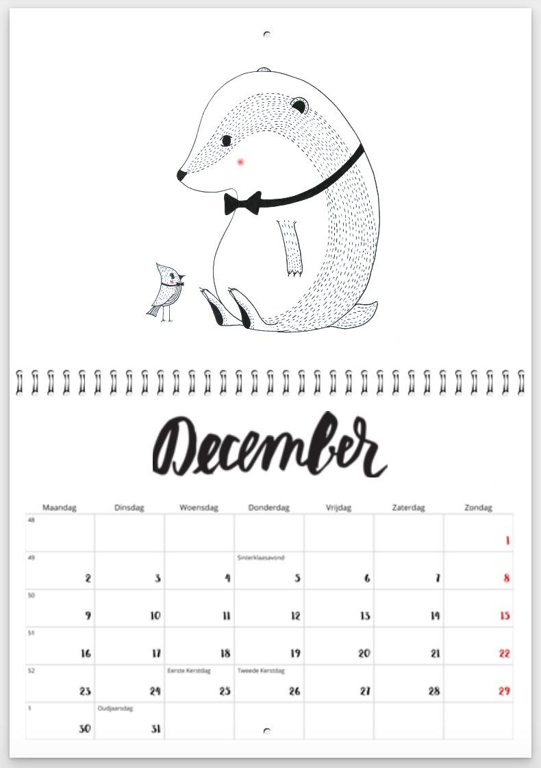 december 2019 - dasje met strik - kerst 2019 - kalender
