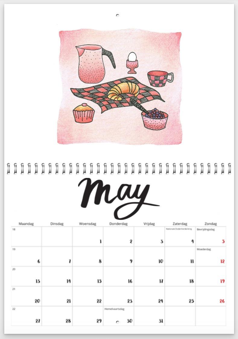 picknick - illustratie - Haske Kroes - Sommers - jaarkalender