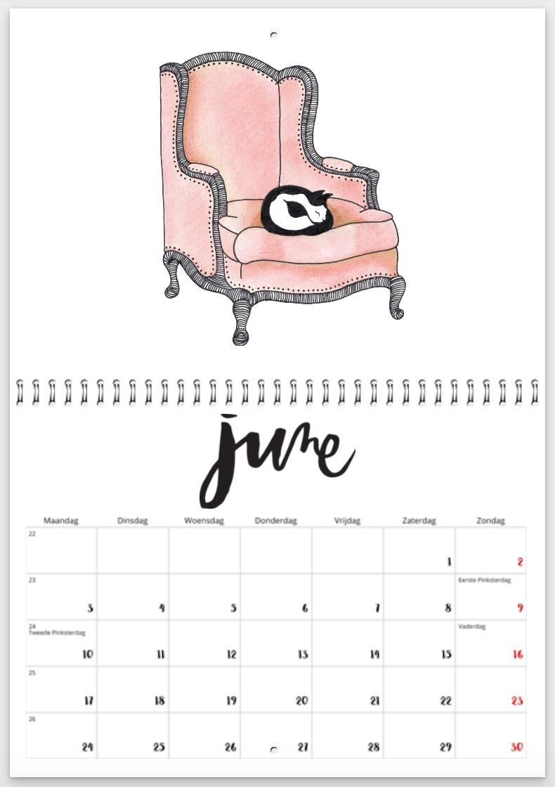 kat op stoel - illustratie
