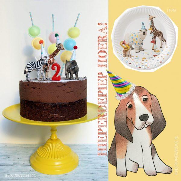 ideeën kinderfeestje - dieren - feesthoedjes - kinderkamervintage