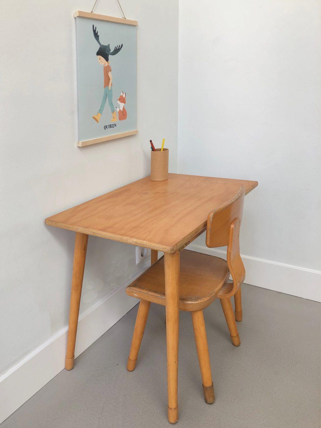 vintage houten setje - Schilte - poster - jongenskamer